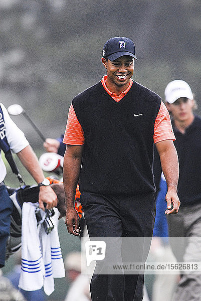 Tiger Woods smiles during the U.S. Open at Torrey Pines in San Diego  CA.