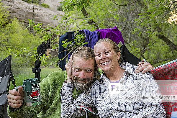 Portrait Of Rafters While Camping At The Yampa And Green Rivers