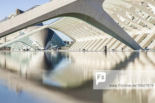 Stadt der Künste und Wissenschaften in Valencia  Spanien.