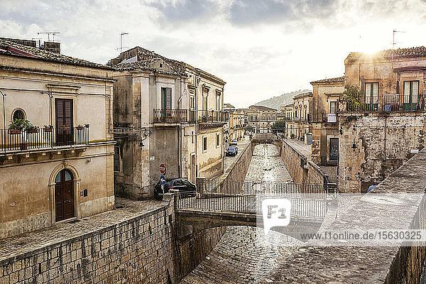 Altstadt  Scicli  Provinz Ragusa  Sizilien