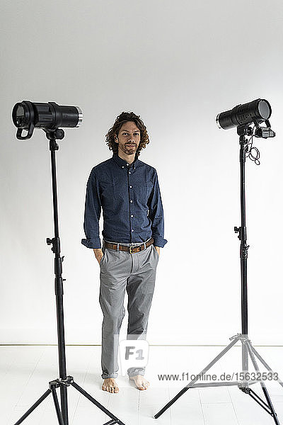 Portrait of a photographer in his studio