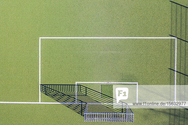 Drohnenschuss vom Fußballfeld  München  Deutschland
