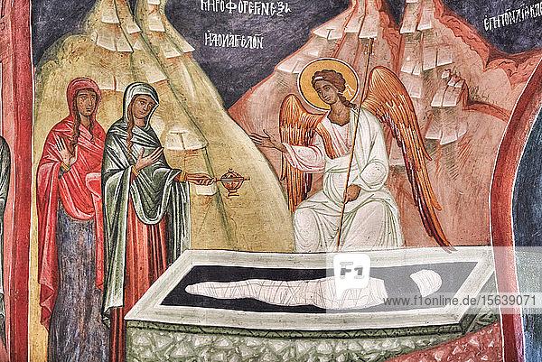 Interior fresco  Church of the Holy Cross  1487; Patrauti  Suceava County  Romania