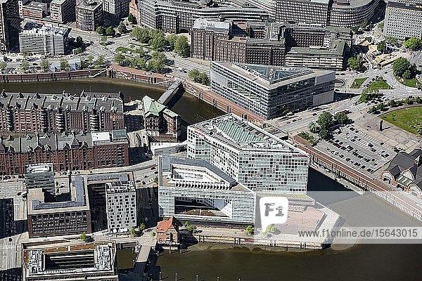 Verlagshaus und Redaktion Der Spiegel  Ericusspitze  Quartier Brooktorkai  Hafencity  Hamburg  Deutschland  Europa