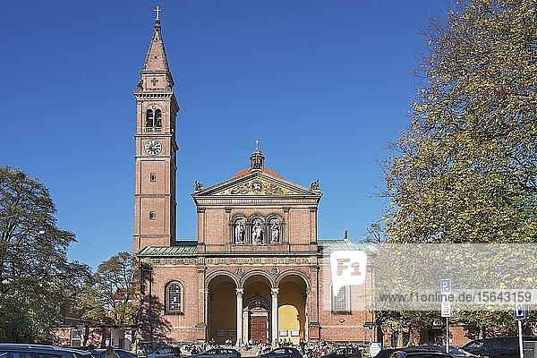 Catholic Parish Church St. Ursula  Schwabing  Munich  Upper Bavaria  Bavaria  Germany  Europe