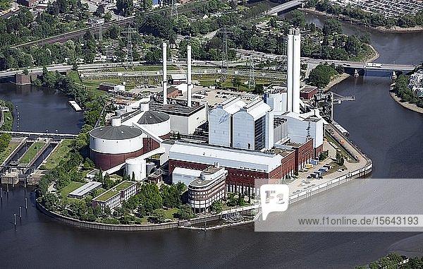 Kraft-Wärme-Kraftwerk Tiefstack  Billbrook  Hamburg  Deutschland  Europa