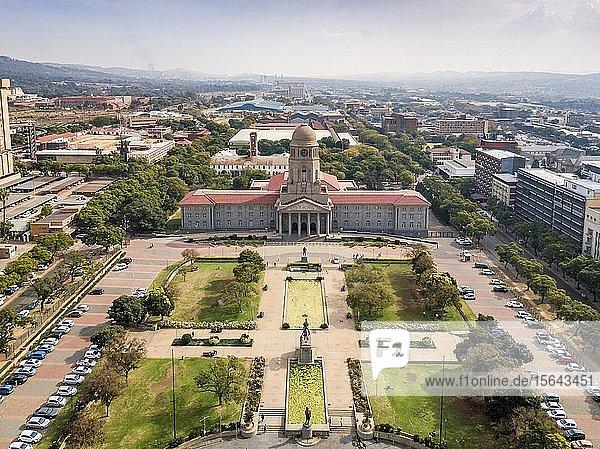 Aerial view  Tshwane city hall  Pretoria  South Africa  Africa