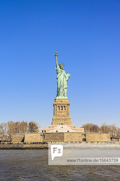 Freiheitsstatue  Statue of Liberty National Monument  Liberty Island  New York City  New York State  USA  Nordamerika