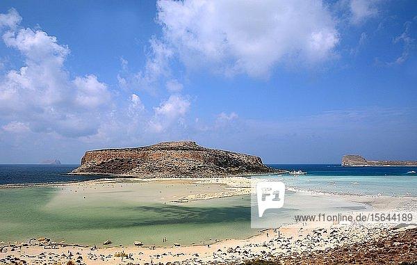 Bucht von Balos mit Lagune von Gramvousa  Westkreta  Kreta  Griechenland  Europa