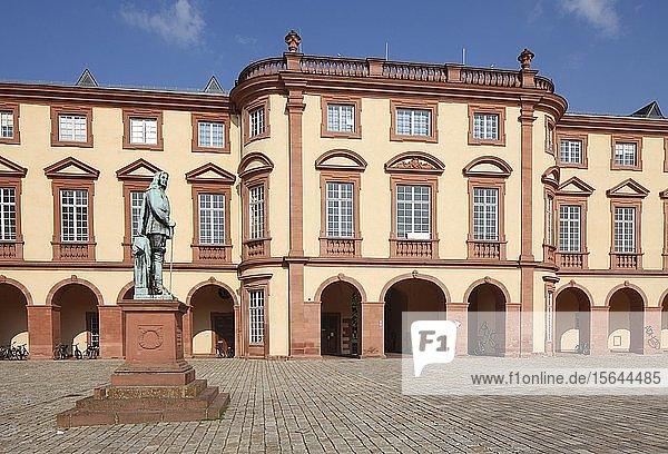Barockschloss Mannheim  Residenzschloss  Mannheim  Baden-Württemberg  Deutschland  Europa
