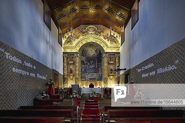 Kirche Nossa Senhora da Encarnação  Innenraum  Insel Madeira  Portugal  Europa