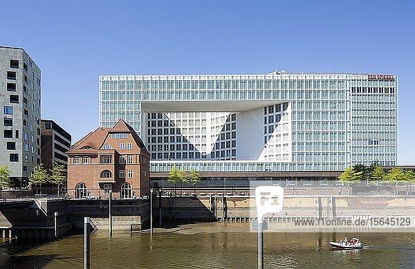 Verlagshaus Der Spiegel  Quartier Brooktorkai  Erikusspitze  Hafencity  Hamburg  Deutschland  Europa