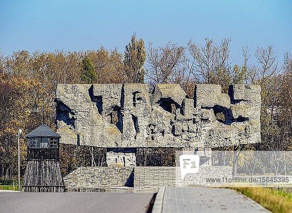 Gedenkstätte in Majdanek  deutsches Konzentrationslager  Lublin  Woiwodschaft Lublin  Polen  Europa