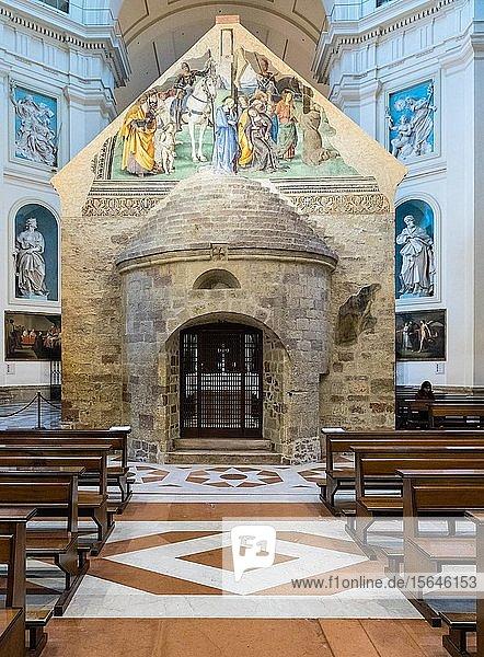 Apsis  Portiuncula oder Portiunkula Kapelle in der Basilika Santa Maria degli Angeli  Assisi  Provinz Perugia  Umbrien  Italien  Europa