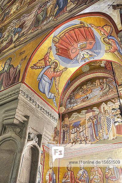 Interior Frescoes  Putna Monastery  1466  Putna  Suceava County  Romania
