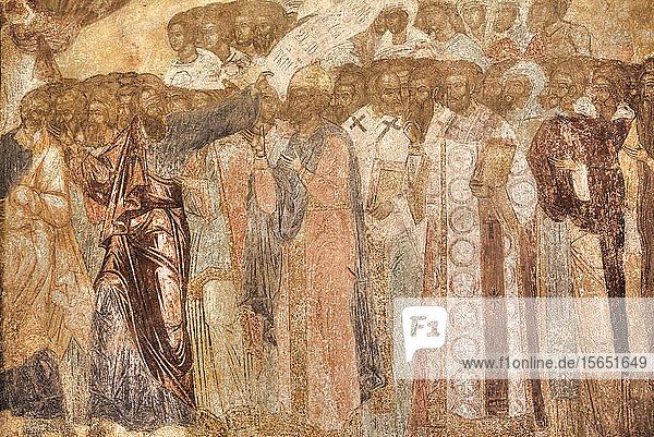 Frescoes  Transfiguration Cathedral  Spassky Monastery  UNESCO World Heritage Site  Yaroslavl  Golden Ring  Yaroslavl Oblast  Russia