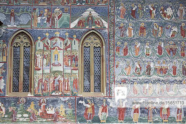 External Frescoes  Sucevita Monastery  1585  UNESCO World Heritage Site  Sucevita  Suceava County  Romania