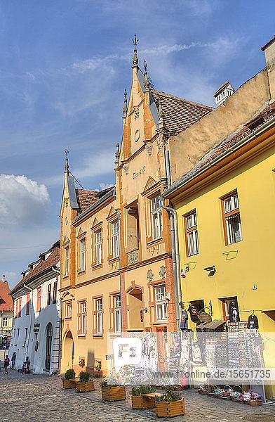 Medieval Buildings  Sighisoara  UNESCO World Heritage Site  Mures County  Transylvania Region  Romania