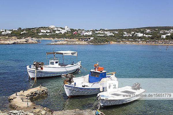 Fishing Boats  Santa Maria Beach Area  Paros Island  Cyclades Group  Greek Islands  Greece