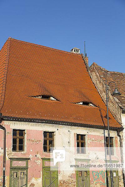 House with Eyes  Sibiu  Transylvania Region  Romania