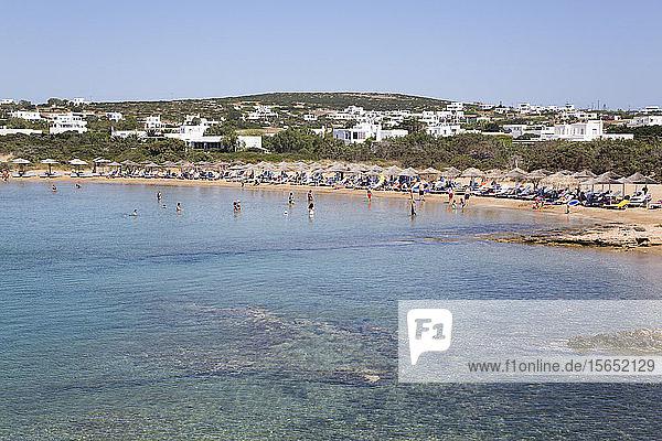Santa Maria Beach  Paros Island  Cyclades Group  Greek Islands  Greece