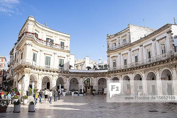 Italy  Apulia  Martina Franca  Piazza Maria Immacolata with arcade