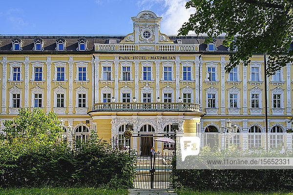 Exterior of Park Hotel Maximilian at Regensburg  Upper Palatinate  Bavaria  Germany