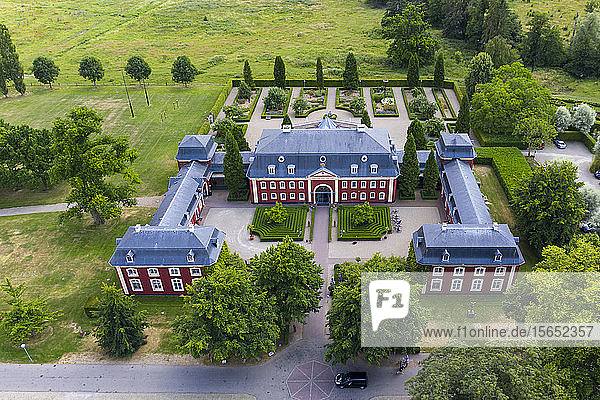 Aerial view of Château St. Gerlach in Maastricht  Netherlands