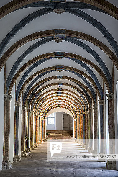 Historical cloister at Princely Abbey of Corvey  Germany