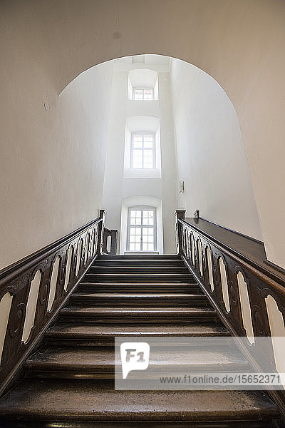 Wooden steps at Princely Abbey of Corvey  Germany