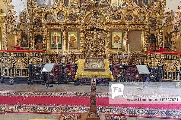 Church of the Intercession interior  Fili  Moscow  Russia.