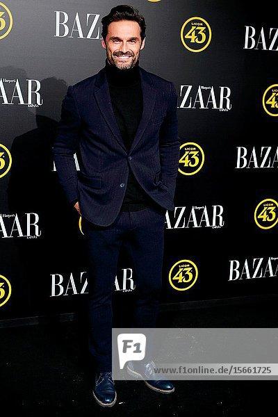 Ivan Sanchez attend the Harper's Bazaar awards in Palacio de Santoña  Madrid (Spain).November 5  2019