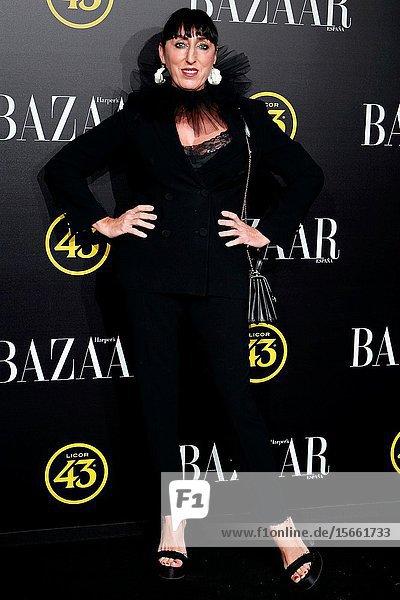 Rossy de Palma attend the Harper's Bazaar awards in Palacio de Santoña  Madrid (Spain).November 5  2019..