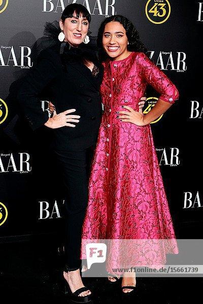 Rossy de Palma and her daughter Luna García attend the Harper's Bazaar awards in Palacio de Santoña  Madrid (Spain).November 5  2019..