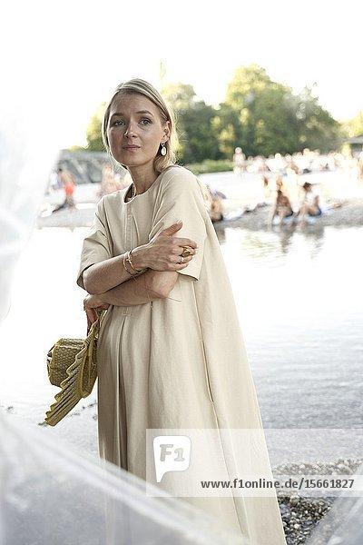 Portrait of woman in Munich  Germany.