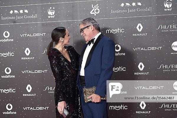 Tamara Falco  Boris Izaguirre attends Los 40 Music Awards at Wizink Center on November 8  2019 in Madrid  Spain