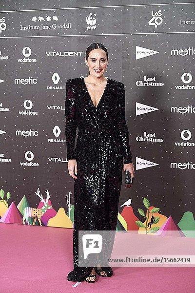Tamara Falco attends Los 40 Music Awards at Wizink Center on November 8  2019 in Madrid  Spain