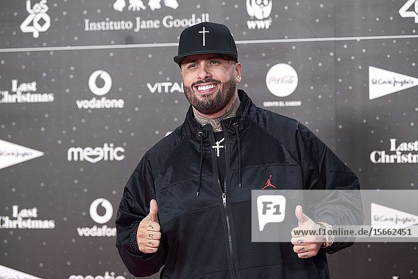Nicky Jam attends Los 40 Music Awards at Wizink Center on November 8  2019 in Madrid  Spain