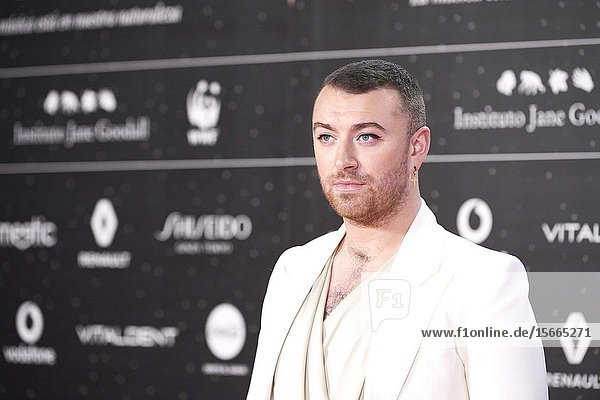 Sam Smith attends Los 40 Music Awards at Wizink Center on November 8  2019 in Madrid  Spain