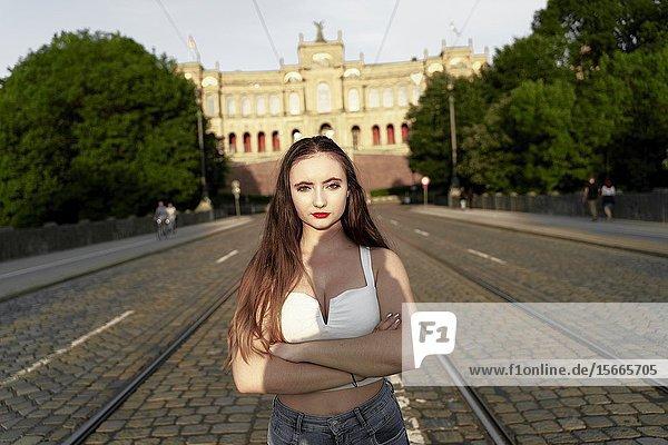 Young woman  Munich  Germany