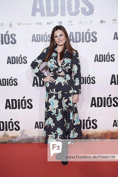Teresa Bueyes attends 'Adios' premiere at Capitol Cinema on November 19  2019 in Madrid  Spain
