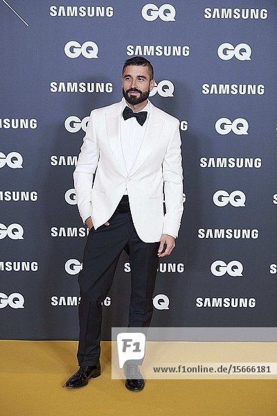 Alex Garcia attends GQ Men of the Year Awards 2019 at Palace Hotel on November 21  2019 in Madrid  Spain