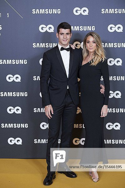 Alvaro Morata  Alice Campello attends GQ Men of the Year Awards 2019 at Palace Hotel on November 21  2019 in Madrid  Spain