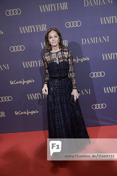 Isabel Preysler attends the Vanity Fair 'Person of the year 2019' at Royal Theatre on November 25  2019 in Madrid  Spain