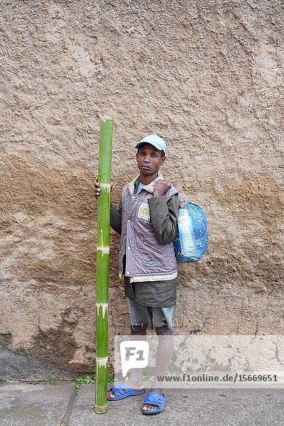 Daily market at Ambozontany  upper Fianarantsoa  Ihorombe Region  Southern Madagascar