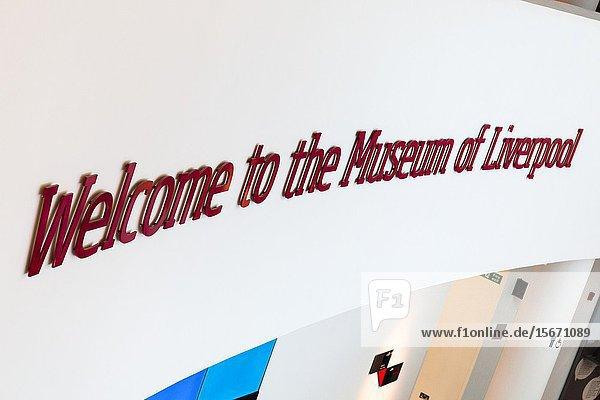 Liverpool Museum. Liverpool Merseyside England UK.