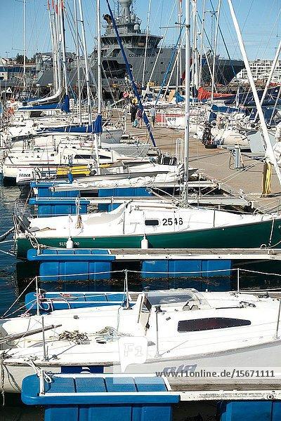 Yachting marina. Reykjavik  Iceland.