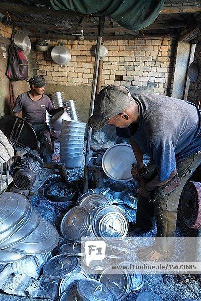 Aluminium foundry in Ambatolampy  Antsirabe  Central Madagascar