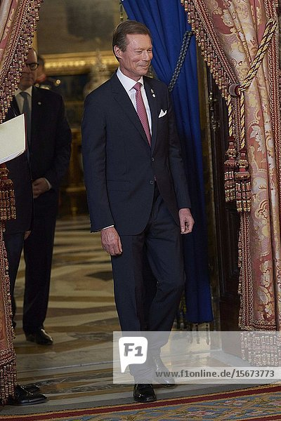 Henri  Grand Duke of Luxembourg attends United Nations Conference on Climate Change (COP25) reception at Royal Palace on December 2  2019 in Madrid  Spain