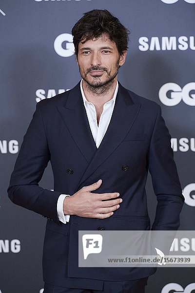 Andres Velencoso attends GQ Men of the Year Awards 2019 at Palace Hotel on November 21  2019 in Madrid  Spain
